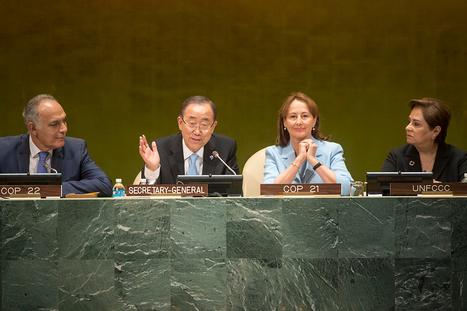 Ban Ki-moon annonce l'entrée en vigueur de l'Accord de Paris sur le climat le 4 novembre   Innovations francophones   Scoop.it