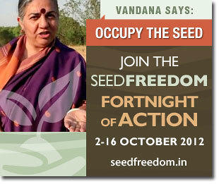 Nature to Share support Vandana Shiva - OCCUPY THE SEED | Nature to Share | Scoop.it