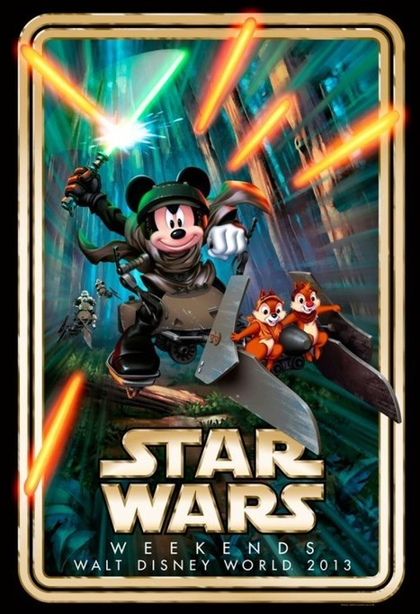 Mickey Mouse On A Speeder Bike - First Artwork For Disney's Star Wars Weekend 2013 | Sci-Fi | Scoop.it
