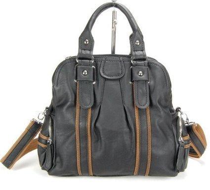 ***   HERISSON FIRENZE Damen Handtasche, Bowlingbag, schwarz-braun | Clutch Bags Online | Scoop.it