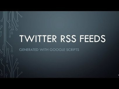 A Simple Way to Create RSS Feeds for Twitter | Online tips & social media nieuws | Scoop.it