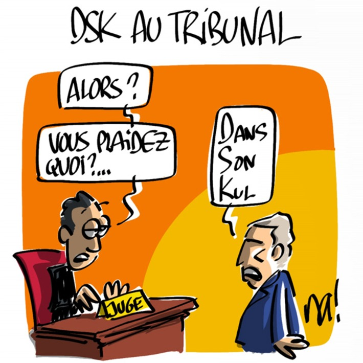DSK au tribunal | Baie d'humour | Scoop.it