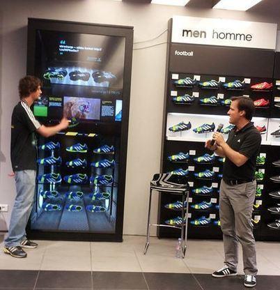 Le Virtual Footwear Wall d'Adidas arrive en France ! » | | Retail shop innovation | Scoop.it