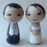 Wedding cake topper - Classic Bride and Groom | Dresses | Scoop.it