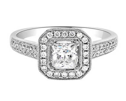 VR1035 0.75 Carat Halo Diamond Ring | Bespoke Diamonds | Engagement Rings Dublin | Scoop.it
