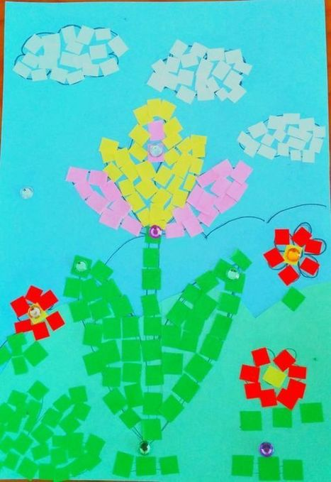 Mosaic Mother's Day Arts and Crafts Card   English Teaching News   Scoop.it
