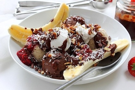 The ultimate banana split…vegan & paleo! | My Vegan recipes | Scoop.it