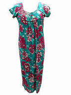 Women's Hippie Kaftan Dress Pink Green Floral Print Gypsy Resort Wear | caftan Kaftan | Scoop.it
