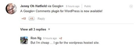 Le système de commentaire Google+ accessible su... | Digital & Social innovation | Scoop.it