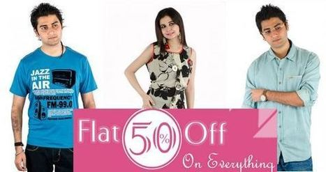 Flat 50% OFF on Provogue, Flying Machine, Numero Uno etc.   Shoplik.com   Mens fashion and travel   Scoop.it