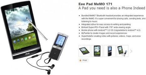 Asus Eee Pad MeMo 171 : 7 pouces, un stylet et du Bluetooth en mars pour l'Asie « Les Ardoises   François MAGNAN  Formateur Consultant   Scoop.it