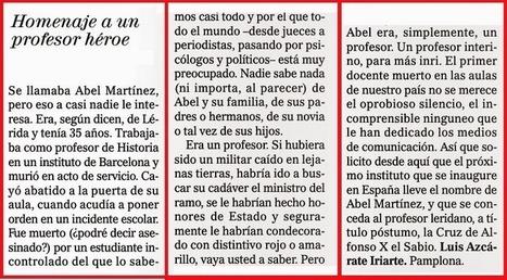 ¿Debemos mantener abierto el debate sobre lo que ocurre en las aulas? Reflexiones después del homicidio de Abel Martínez, profesor | Orientación Educativa - Enlaces para mi P.L.E. | Scoop.it