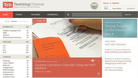Teaching Channel: Videos, Lesson Plans and Other Resources for Teachers | 21st Century Tools for Teaching-People and Learners | Scoop.it