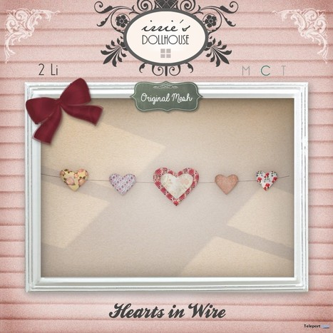 Hearts in Wire Group Gift by irrie's Dollhouse | Teleport Hub - Second Life Freebies | Second Life Freebies | Scoop.it
