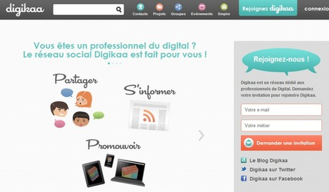 Digikaa : réseau dédié aux professionnels du Digital. | Time to Learn | Scoop.it