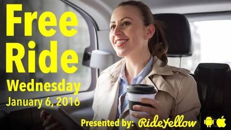 Free Ride Wednesday January 6 2016-RideYellow | Ride Yellow Cab | Scoop.it
