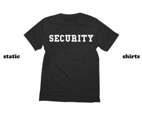 Security T-Shirt   Costume Event Shirt   T-Shirt   Scoop.it