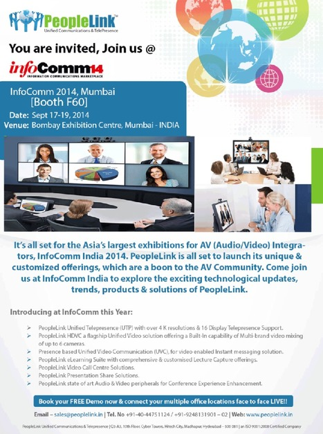 Video conferencing Products Event -InfoComm2014 India | Video conferencing Technology | Scoop.it