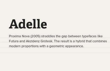 5 Typekit Font Combinations That Look Amazing ~ Typography | Technology, Code & Graphics | Scoop.it