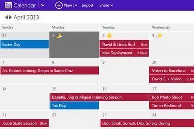 Outlook.com : le nouveau calendrier déployé cette semaine | Geeks | Scoop.it