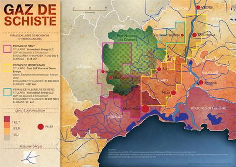 Gaz de schiste : derrière les 3 permis abrogés dans le Gard, 64 autres restent en cours | LYFtv - Lyon | Scoop.it