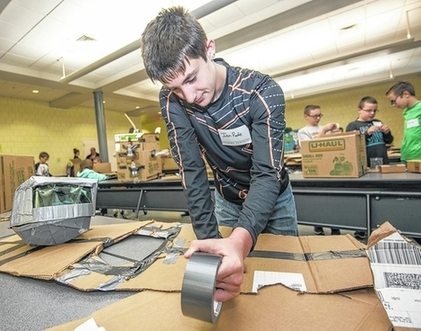 Students show their smarts with cardboard creations | Aprendiendo a Distancia | Scoop.it