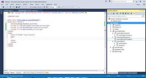 Introduction to Knockout.js and CRUD Operations in ASP.Net Web Forms Using Knockout.JS | .NET Development | Scoop.it