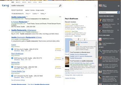 Bing intègre la recherche sociale pour l'utilisateur final | Recherche sociale | Scoop.it