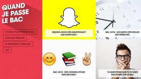 Pour aider les élèves à réviser le Bac, l'Education Nationale se lance sur Tumblr et Snapchat - France 3 Picardie | social media - identité numérique | Scoop.it
