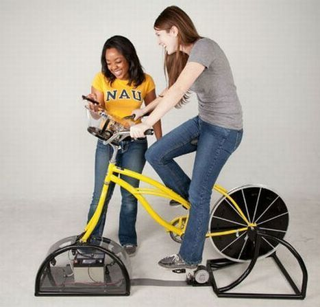 DIY bike-powered generator lets students produce and use renewable energy - EcoChunk | Solar Energy News | Scoop.it