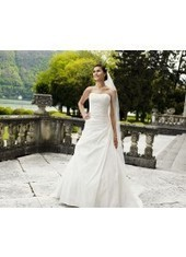 A Line Strapless Court Train Taffeta Ivory Wedding Dress H1ly0024 for $957 | Landybridal 2014 wedding dress | Scoop.it