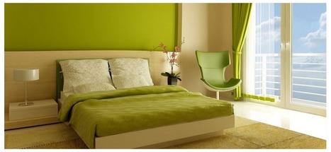 Kuriame miegamojo interjerą. Žalia spalva | Patalynės pasaulis | Scoop.it