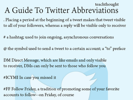 A Twitter Abbreviation Guide To Make Sense Of All That Crazy Talk | Ed Tech | Scoop.it