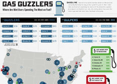 Mint Infographic: Gas Guzzlers — Where Are Mint Users Spending The Most Of Fuel? | green infographics | Scoop.it