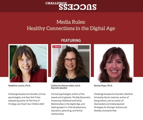 """Media Rules: Healthy Connections in the Digital Age"" // Stanford Memorial Auditorium, Fri. September 30th, 7pm-8:30pm // Challenge Success 