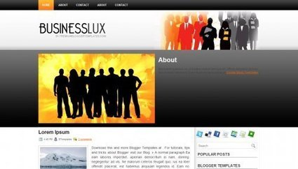 BusinessLux Blogger Theme 2014 | Blogger themes | Scoop.it