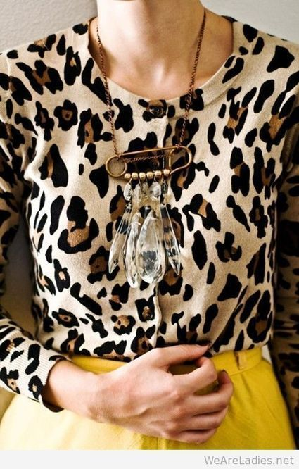 Leopard blouse with yellow skirt   Pintast   Scoop.it