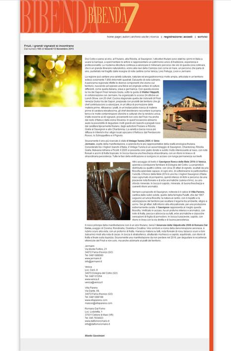 VILLA PARENS SU BIBENDA7 | SPEAKING OF WINE | Scoop.it