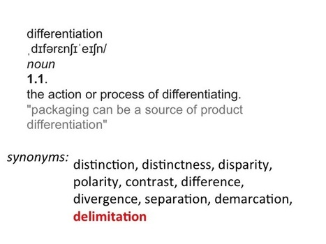 Differentiation or delimitation? | Differentiation | Scoop.it