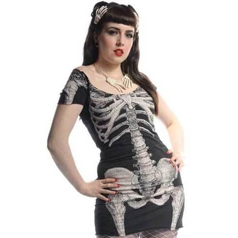 kreepsville 666 white skeleton tunic dress | Halloween & Spooky Fun Stuff~ | Scoop.it