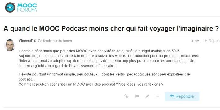 A quand le MOOC Podcast moins cher qui fait voyager l'imaginaire ? | MOOC Francophone | Scoop.it