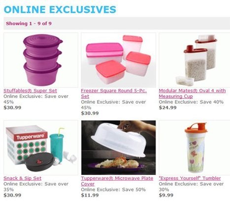 Online Exclusives! | May Tupperware Specials | Scoop.it