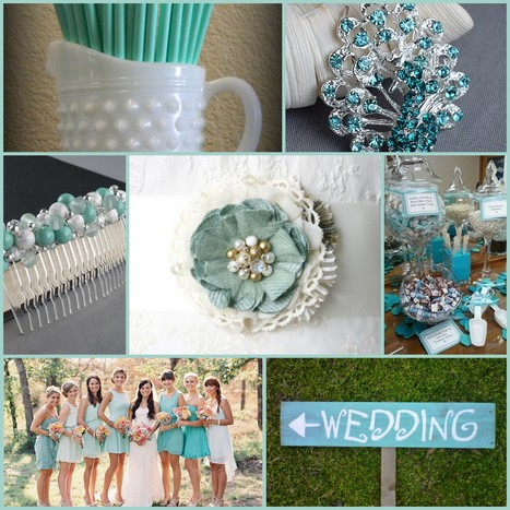 Wedding Colour Combinations - White, Mint & Robin Egg | Your wedding in France... | Scoop.it
