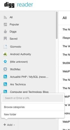 Tour d'horizon de Digg Reader : un Google Reader like seulement | Technologie Au Quotidien | Scoop.it