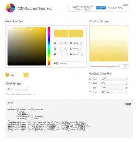 Un générateur de dégradés en CSS (gradient CSS) | Les outils d'HG Sempai | Scoop.it