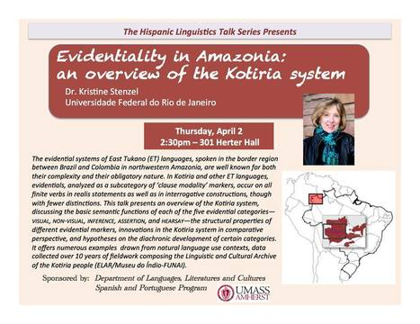 """""""Evindetiality in Amazonia"""" A talk by Kristine Stenzel 