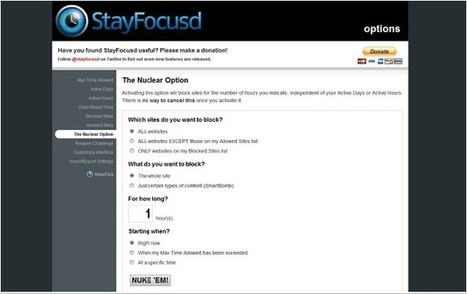 Two Awesome Apps to Help You Stay Focused | New Web 2.0 tools for education | Scoop.it
