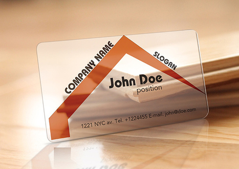 Translucent Plastic Realtor Business Card (Free Template) | Business Cards | Scoop.it
