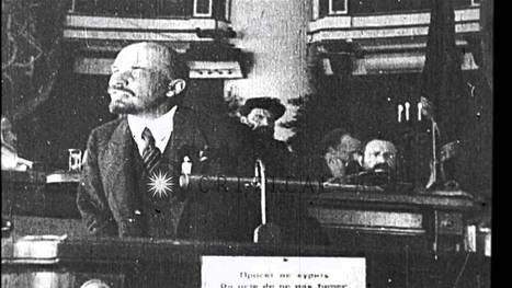 Russian Bolshevik leader Vladimir Lenin addresses a crowd and Leon Trotsky talks,...HD Stock Footage - YouTube | Year 12 History Unit 3 | Scoop.it