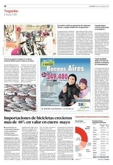Importaciones de bicicletas crecieron más de 40% en valor en enero-mayo   Negocios   La Tercera Edición Impresa   Impacto económico creado por aspectos relacionados a bicicletas, en América Latina   Scoop.it